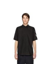 Chemise à manches courtes noire Raf Simons