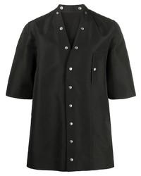 Chemise à manches courtes noire Rick Owens