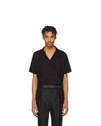 Chemise à manches courtes noire Saint Laurent