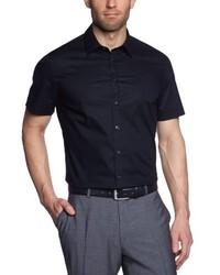Chemise à manches courtes noire Seidensticker