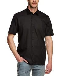 Chemise à manches courtes noire Signum