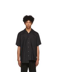Chemise à manches courtes noire Wooyoungmi