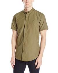 Chemise à manches courtes olive