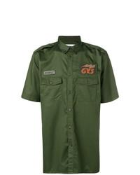 Chemise à manches courtes olive Givenchy
