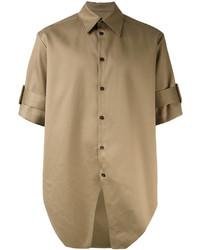 Chemise à manches courtes olive Yang Li