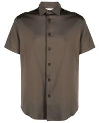 Chemise à manches courtes olive Z Zegna