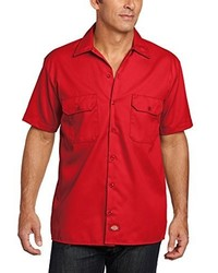 Chemise à manches courtes rouge Dickies
