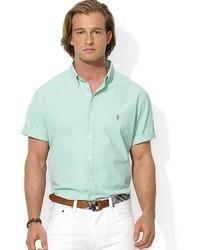 Chemise à manches courtes vert menthe