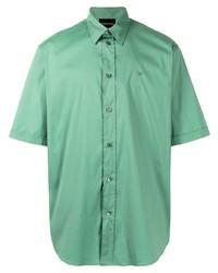 Chemise à manches courtes vert menthe Emporio Armani