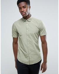 Chemise à manches courtes vert menthe Esprit
