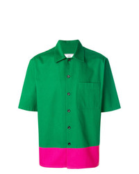 Chemise à manches courtes verte AMI Alexandre Mattiussi