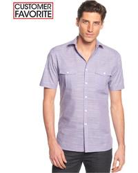 Chemise à manches courtes violet clair