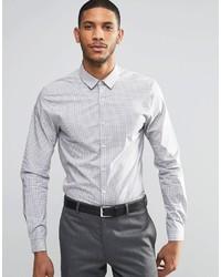 Chemise à manches longues à carreaux blanche Asos