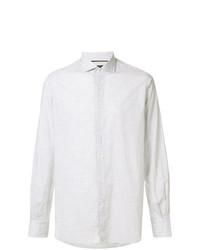 Chemise à manches longues à carreaux blanche Orian