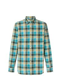 Chemise à manches longues à carreaux bleu canard Bellerose