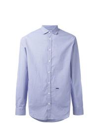 Chemise à manches longues à carreaux bleu clair DSQUARED2