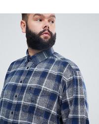 Chemise à manches longues à carreaux bleu marine north 56 4