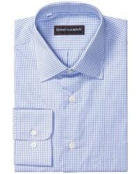 Chemise à manches longues à carreaux bleue