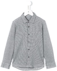 Chemise à manches longues à carreaux grise