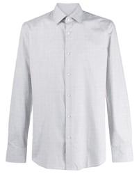Chemise à manches longues à carreaux grise BOSS HUGO BOSS