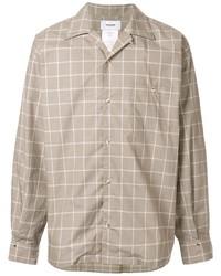 Chemise à manches longues à carreaux grise Doublet