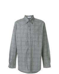 Chemise à manches longues à carreaux grise Engineered Garments