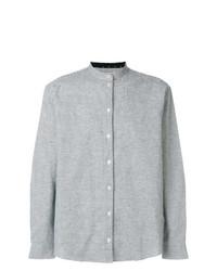 Chemise à manches longues à carreaux grise Henrik Vibskov