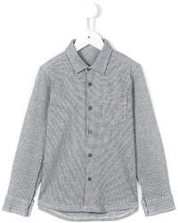 Chemise à manches longues à carreaux grise Il Gufo