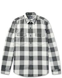 Chemise à manches longues à carreaux grise J.Crew