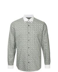 Chemise à manches longues à carreaux grise Loveless