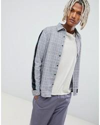 Chemise à manches longues à carreaux grise Sixth June