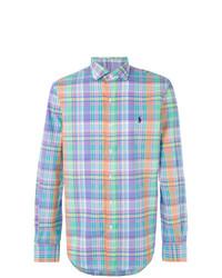 Chemise à manches longues à carreaux multicolore Polo Ralph Lauren