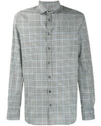 Chemise à manches longues à carreaux noire et blanche DSQUARED2