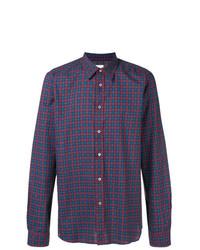 Chemise à manches longues à carreaux pourpre foncé Ps By Paul Smith