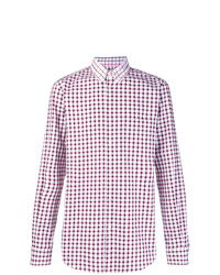 Chemise à manches longues à carreaux pourpre foncé Stella McCartney