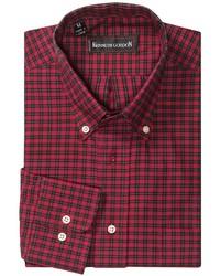 Chemise à manches longues à carreaux rouge et noir