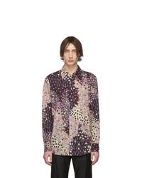 Chemise à manches longues à fleurs multicolore DSQUARED2