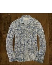 Chemise à manches longues à fleurs