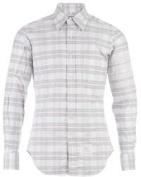 Chemise à manches longues à rayures horizontales grise