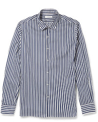 Chemise à manches longues à rayures verticales blanc et bleu marine TOMORROWLAND