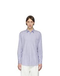 Chemise à manches longues à rayures verticales blanc et bleu Comme Des Garcons SHIRT