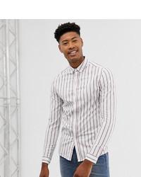 Chemise à manches longues à rayures verticales blanche ASOS DESIGN