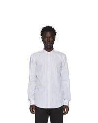 Chemise à manches longues à rayures verticales blanche BOSS