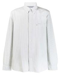 Chemise à manches longues à rayures verticales blanche Calvin Klein