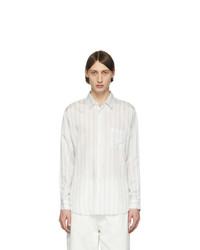 Chemise à manches longues à rayures verticales blanche Comme Des Garcons SHIRT