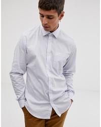 Chemise à manches longues à rayures verticales blanche Esprit
