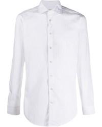 Chemise à manches longues à rayures verticales blanche Etro