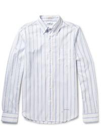 Chemise à manches longues à rayures verticales blanche Gant