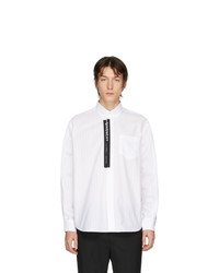 Chemise à manches longues à rayures verticales blanche Givenchy