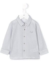 Chemise à manches longues à rayures verticales blanche Il Gufo